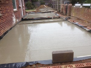 1. Groundworks, side extension, Cambridge