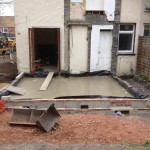 3.Kitchen removed and new groundworks in, sun room, Cambridge