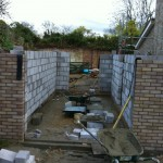 5.Up to scaffold, rear extension, Over